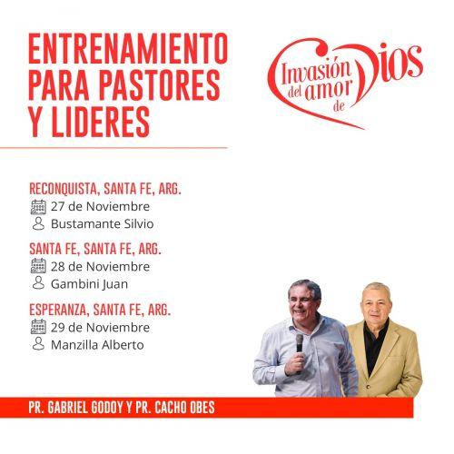 Presentación de Invasión del amor de Dios y Entrenamiento en Santa Fe capital