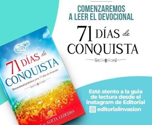 """""""Devocional 71 Días de Conquista"""" para Invasion2021"""
